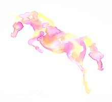 Jumping mare by Belinda Baynes