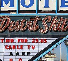 Route 66 - Desert Skies Motel by Frank Romeo