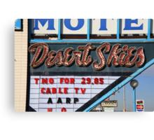 Route 66 - Desert Skies Motel Canvas Print