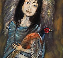 angel with pheasant by tarantella