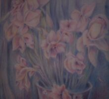 vase of Iris by Ellen Keagy