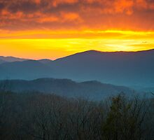 Sunset over Roaring Fork - Great Smoky Mountains National Park by Dave Allen