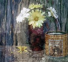 Daisies and Old Tins by suzannem73
