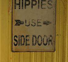 Hippies Use Side Door by Leonie Mac Lean