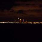 Cleveland Skyline at night by bbaxter18