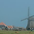 Windmill In The Mist by Robert Abraham