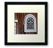 The window in the door Framed Print