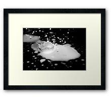 Spilt Milk Framed Print