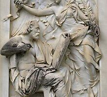 Sculpture for Theopholis Hansen by Lee d'Entremont