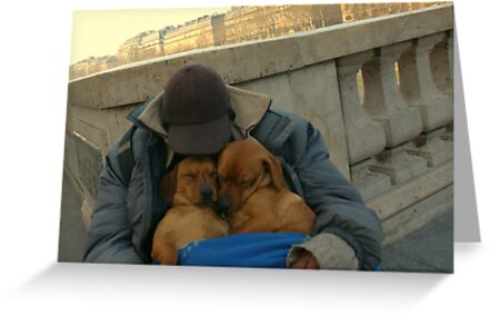 Paris - Just a little nap. by Jean-Luc Rollier