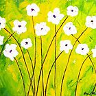 White Flower Abstract by BenPotter