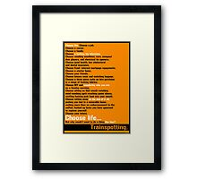 Choose Life.  Framed Print