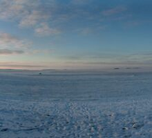 Winter sunset at Toppila, Oulu, Finland by Nnebr