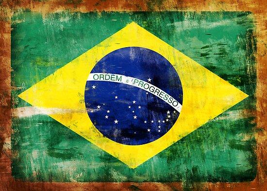 Brazil old painted flag by jordygraph