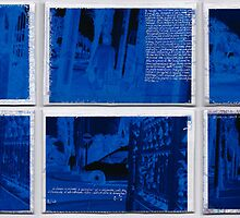 Postcards Blues n°1 to n°10 by Pascale Baud