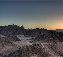 Sinai Mountain Sunset, Egypt. by Michael Upshon