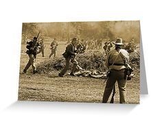 Charge in sepia Greeting Card