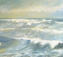 White Horses, Sandsend, Yorkshire by Sue Nichol
