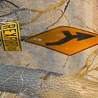 bent orange sign by froogl