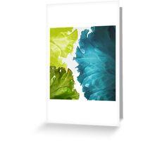 Green waves Greeting Card