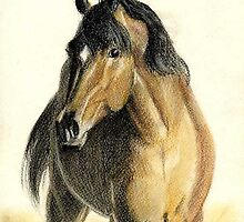 Pastel drawing of horse by Julia Shepeleva