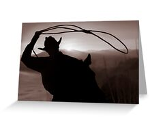 Cowboy silhouette Greeting Card