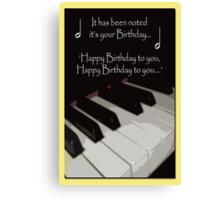 Happy Birthday - Piano card Canvas Print