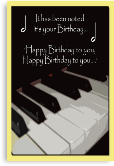 Happy Birthday - Piano card by sarnia2