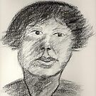 Portrait In Charcoal by George Coombs