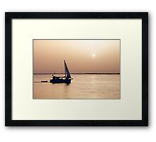 Return at sunset Framed Print