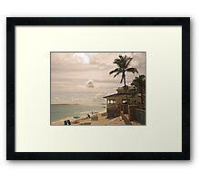 My Favourite Bar On The Beach Framed Print