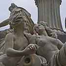 Monument in front of the Austrian Parliament by Lee d'Entremont