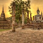 Sunset in Sukhothai by Brian Winshell