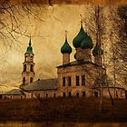 Destroyed orthodox church by Julia Shepeleva