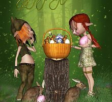 Happy Springtime Wishes Greeting Card by Moonlake