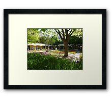 Van Gogh Courtyard Garden Framed Print