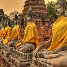 Buddhas in a Row by Brian Winshell