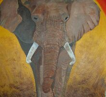 Bull Elephant Charging by sueangel