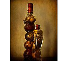 Spice Bottles Photographic Print
