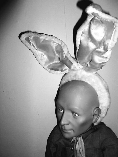 Hugo as Easter Bunny by Margaret Bryant