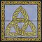Celtic Trinity Knot Tile Mural by thropots