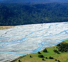 Glacier run off - Franz Josef, New Zealand by Justine Chesterman