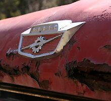 Rusty Hood of an Old Dumptruck by vvfineartphotog