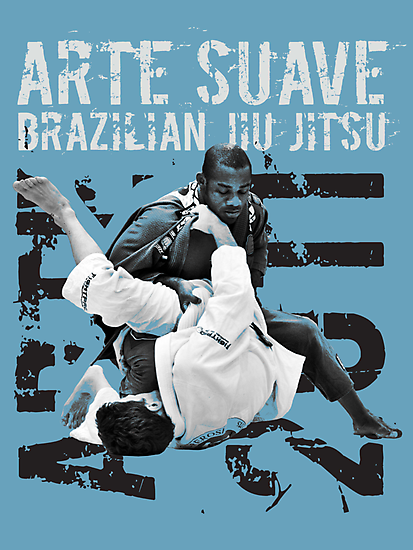 ARTE SUAVE RETRO JIU JITSU POSTER by Willy Karl Beecher
