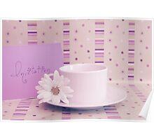 Purple tea invitation card Poster
