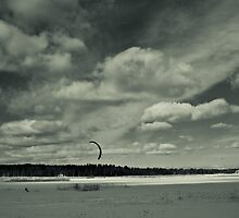 Kite snowboarding by Rob Smith