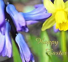 Happy Easter - spring flowers by missmoneypenny