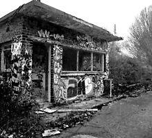 Graffitied Shelter - Abandoned Army Base by Callum Allen