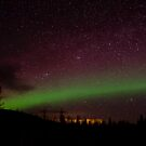 The Night the Sky Turned Purple and Green by peaceofthenorth