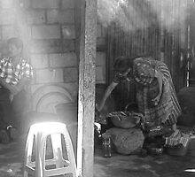 Making Tortillas in the Sunlight by Ashleigh Johnson